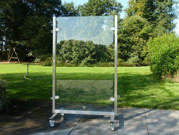 RVS windscherm veiligheidsglas 1-meter
