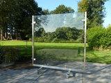 RVS verrijdbaar windscherm 150 cm breed