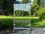 RVS windscherm 100 cm breed
